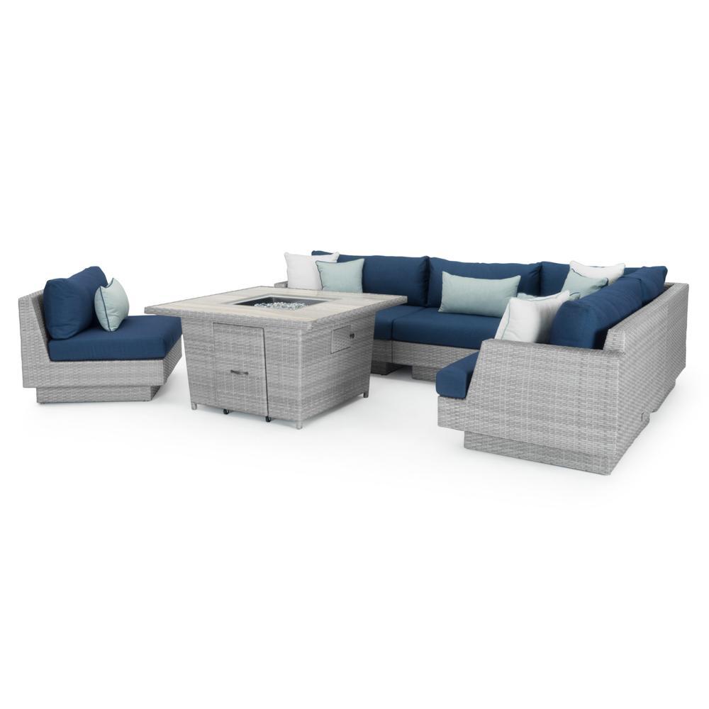 Charmant ... Portofino™ Comfort 6pc Sectional U0026 Fire Table   Laguna Blue ...