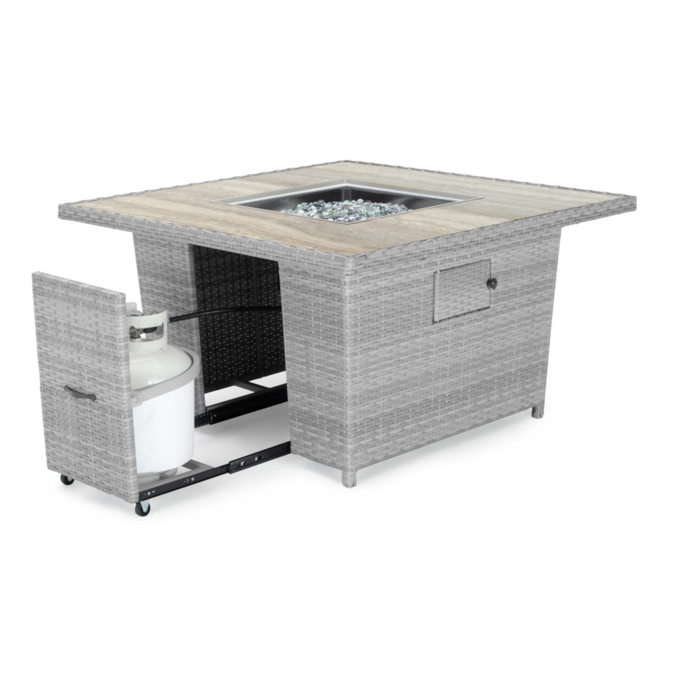 Portofino® Comfort 6pc Sectional & Fire Table - Laguna Blue