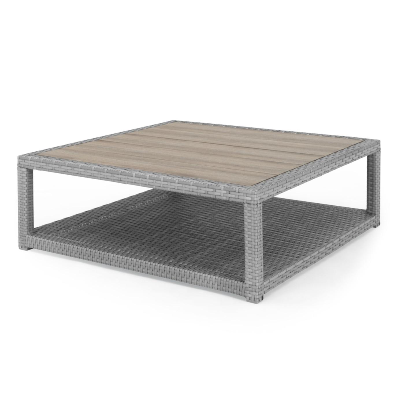 Portofino® Comfort 6 Piece Wood Sectional Seating - Laguna Blue