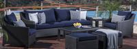 Deco™ 8 Piece Sofa and Club Chair Set - Bliss Blue