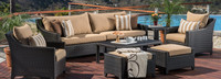 Deco™ 8 Piece Sofa and Club Chair Set - Charcoal Gray