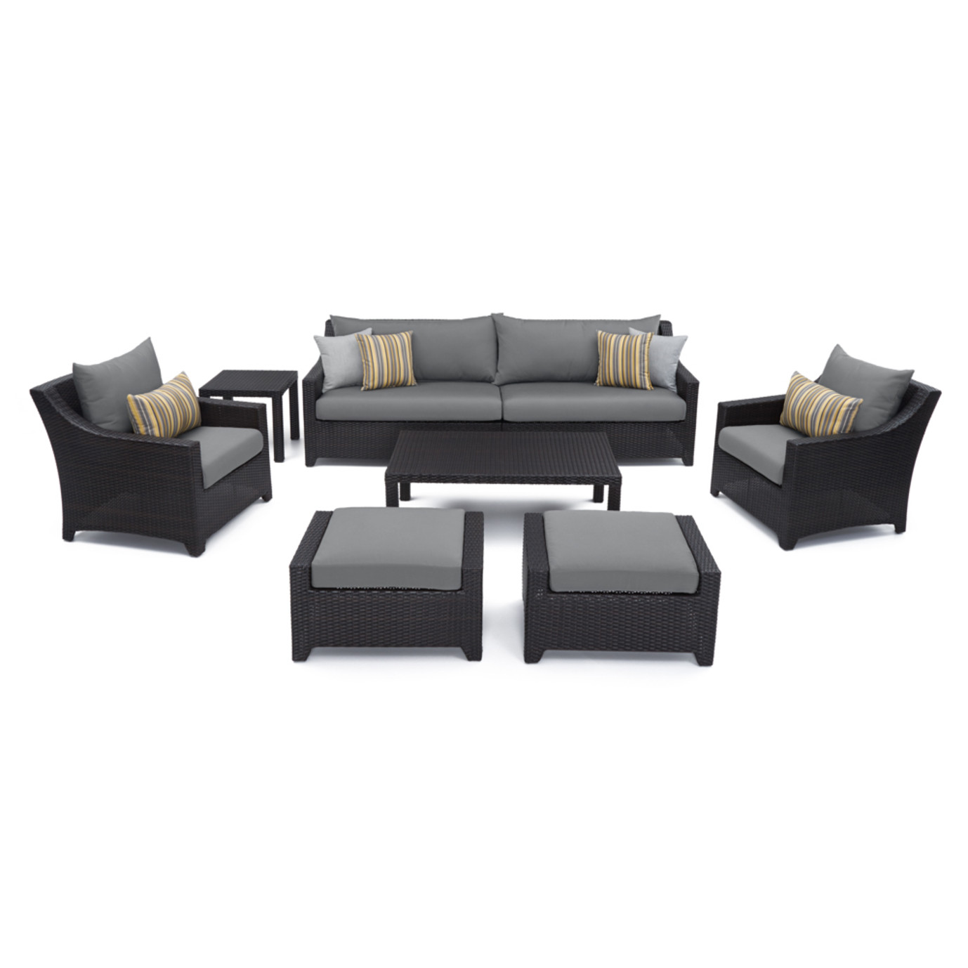Deco™ 8pc Sofa and Club Chair Set - Charcoal Grey