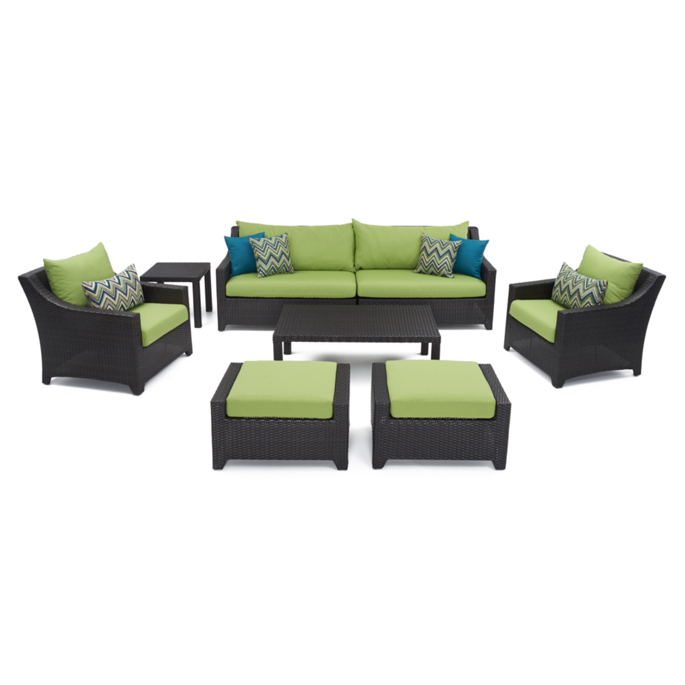 deco 8pc sofa set with furniture covers ginkgo green