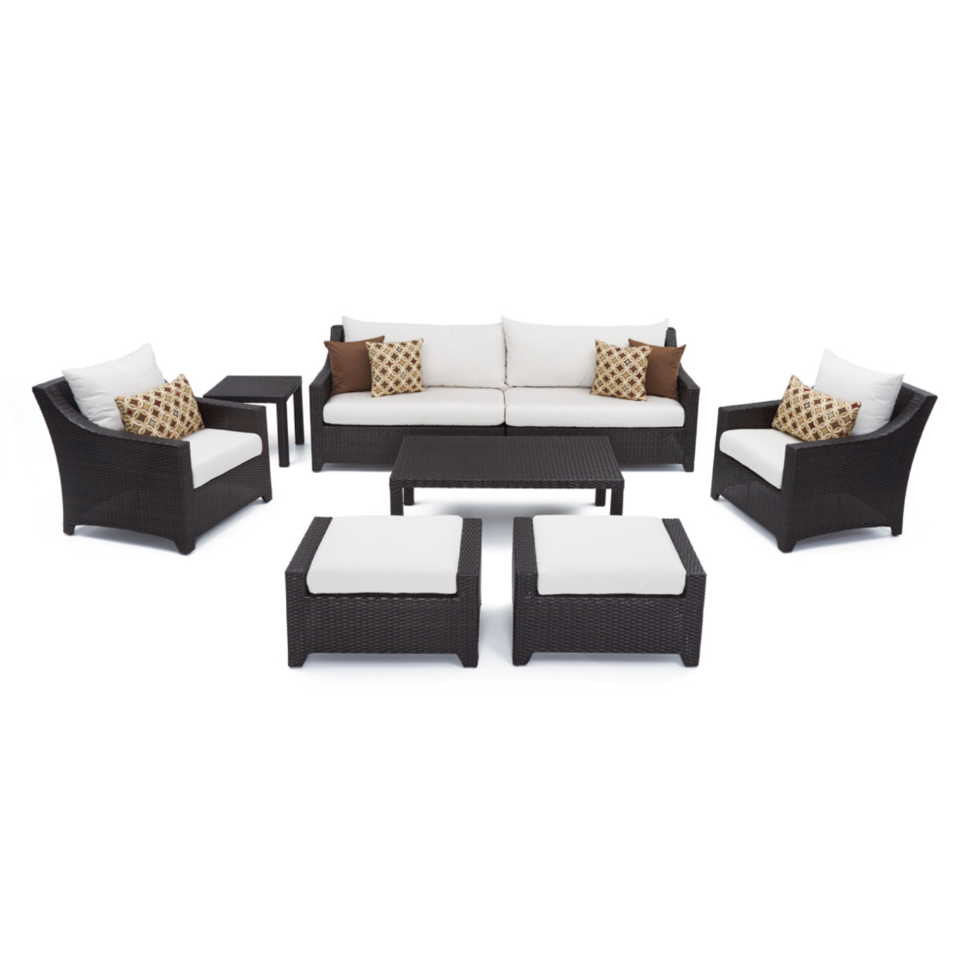 Deco™ 8pc Sofa Set with Furniture Covers - Moroccan Cream