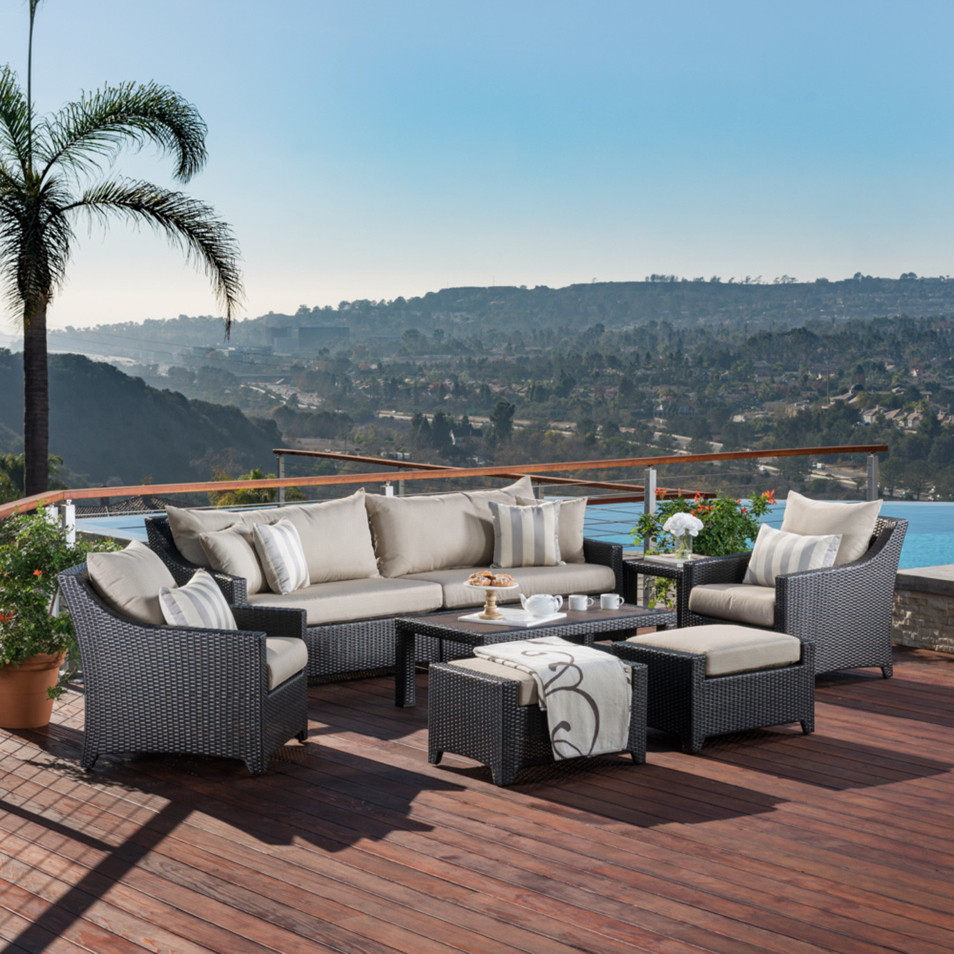 Deco™ 8pc Sofa Set with Furniture Covers - Slate Grey