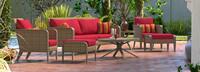 Grantina™ 7 Piece Sofa & Club Chair Set - Charcoal Gray