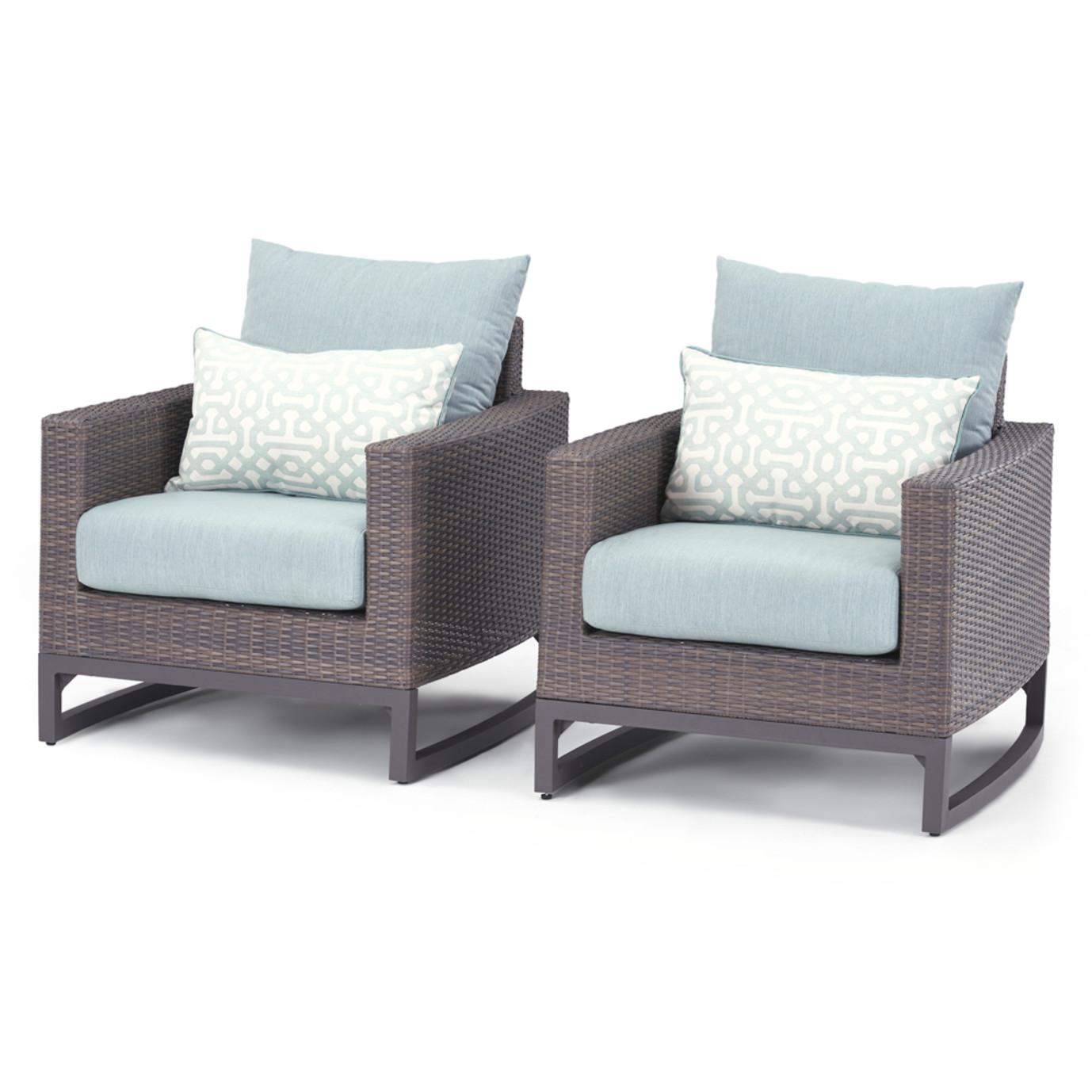 Milea 7 Piece Seating Set - Mist Blue