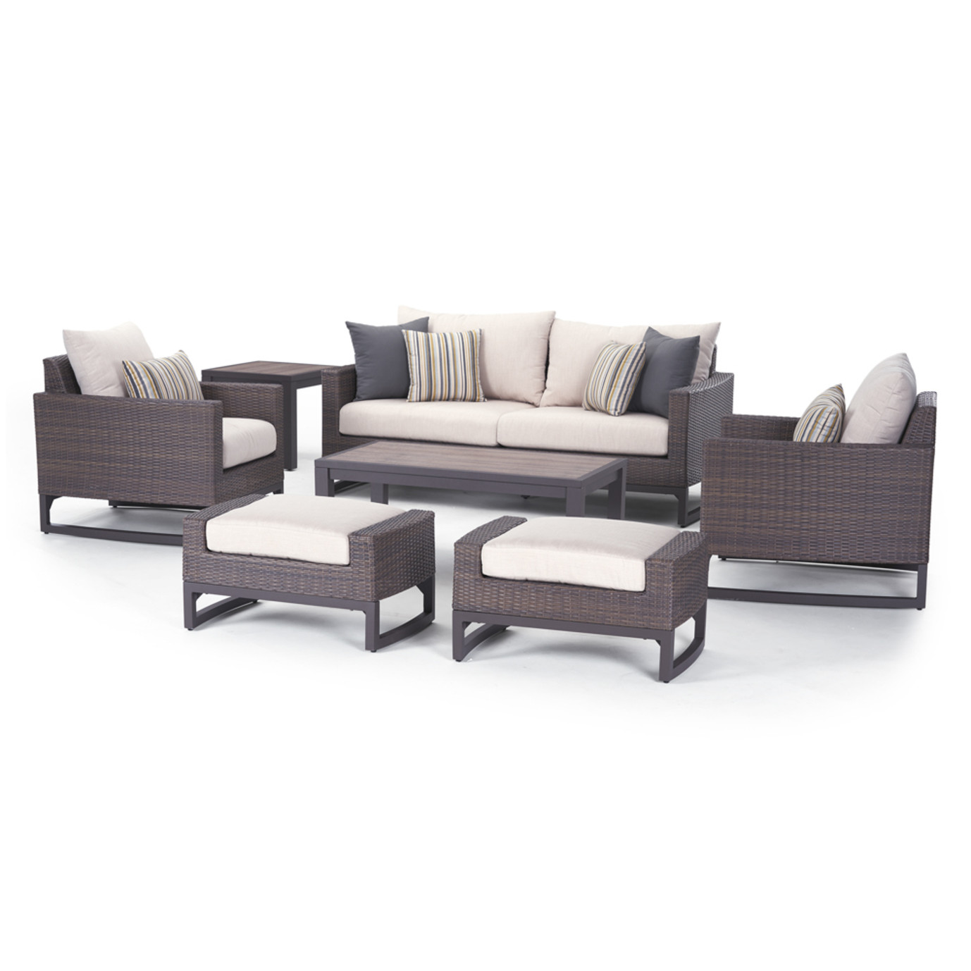 Milea 7 Piece Seating Set - Natural Beige