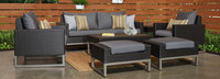 Milo™ Espresso 7 Piece Deep Seating Set - Charcoal Gray