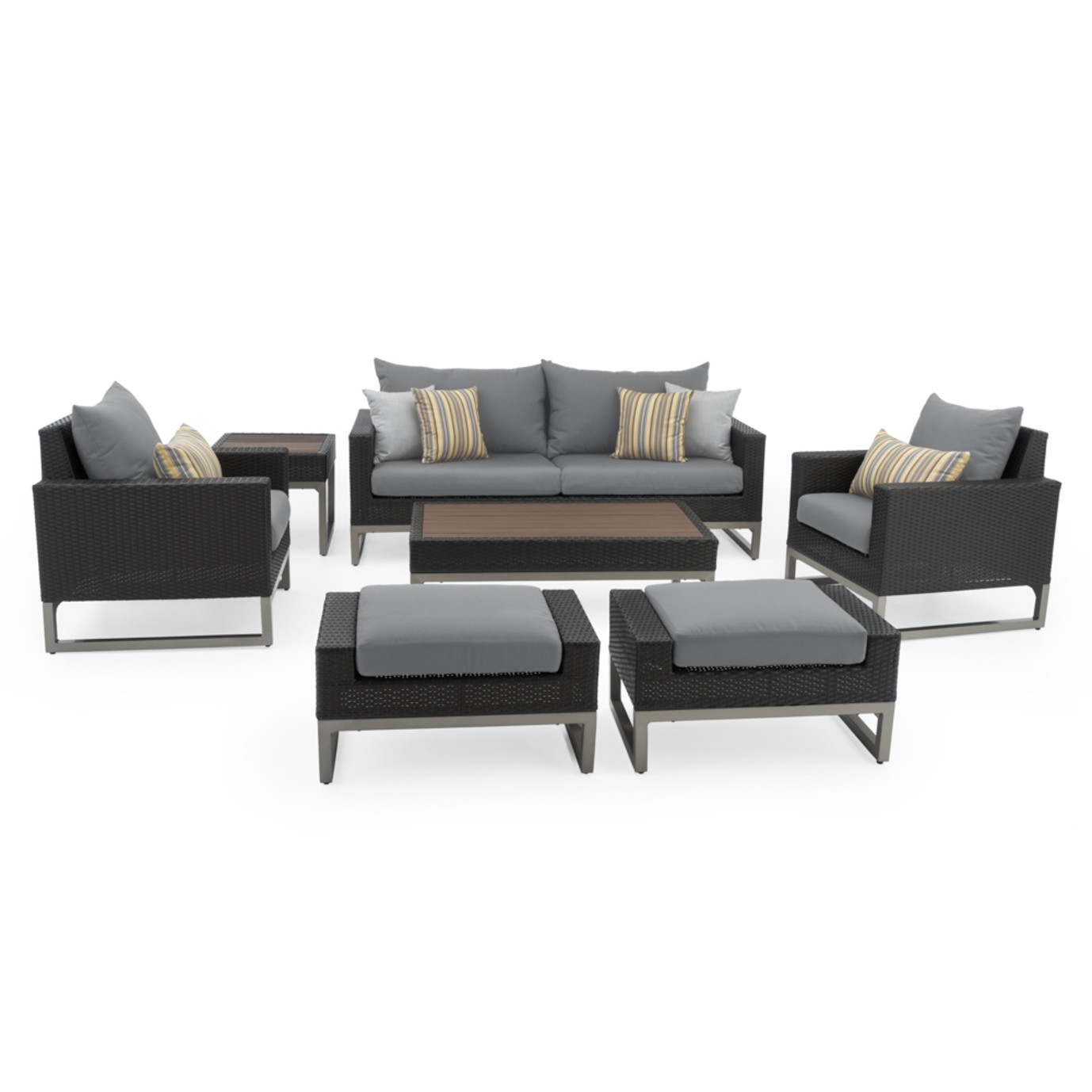 Milo™ Espresso 7 Piece Deep Seating Set - Charcoal Gray