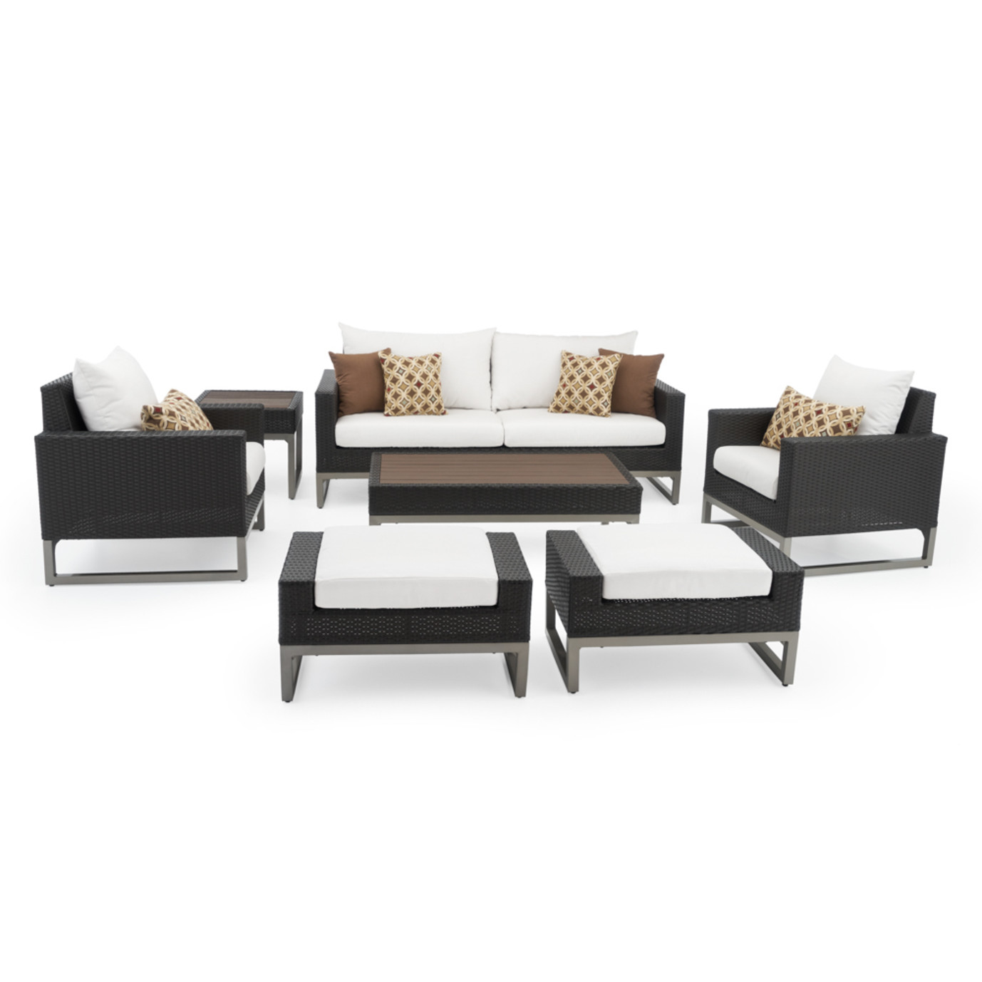 Milo™ Espresso 7pc Deep Seating Set - Moroccan Cream