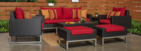 Milo™ Espresso 7 Piece Deep Seating Set -Maxim Beige