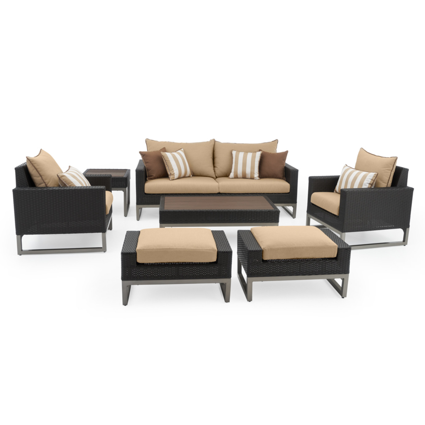 Milo™ Espresso 7pc Deep Seating Set -Maxim Beige