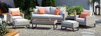 Milo™ Gray 7 Piece Deep Seating Set - Cast Coral