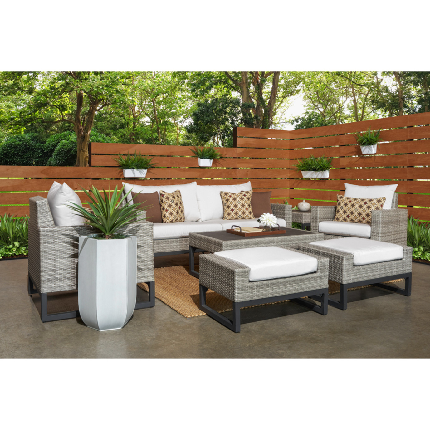 Milo™ Gray 7pc Deep Seating Set - Moroccan Cream