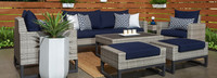 Milo™ Gray 7 Piece Deep Seating Set -Maxim Beige