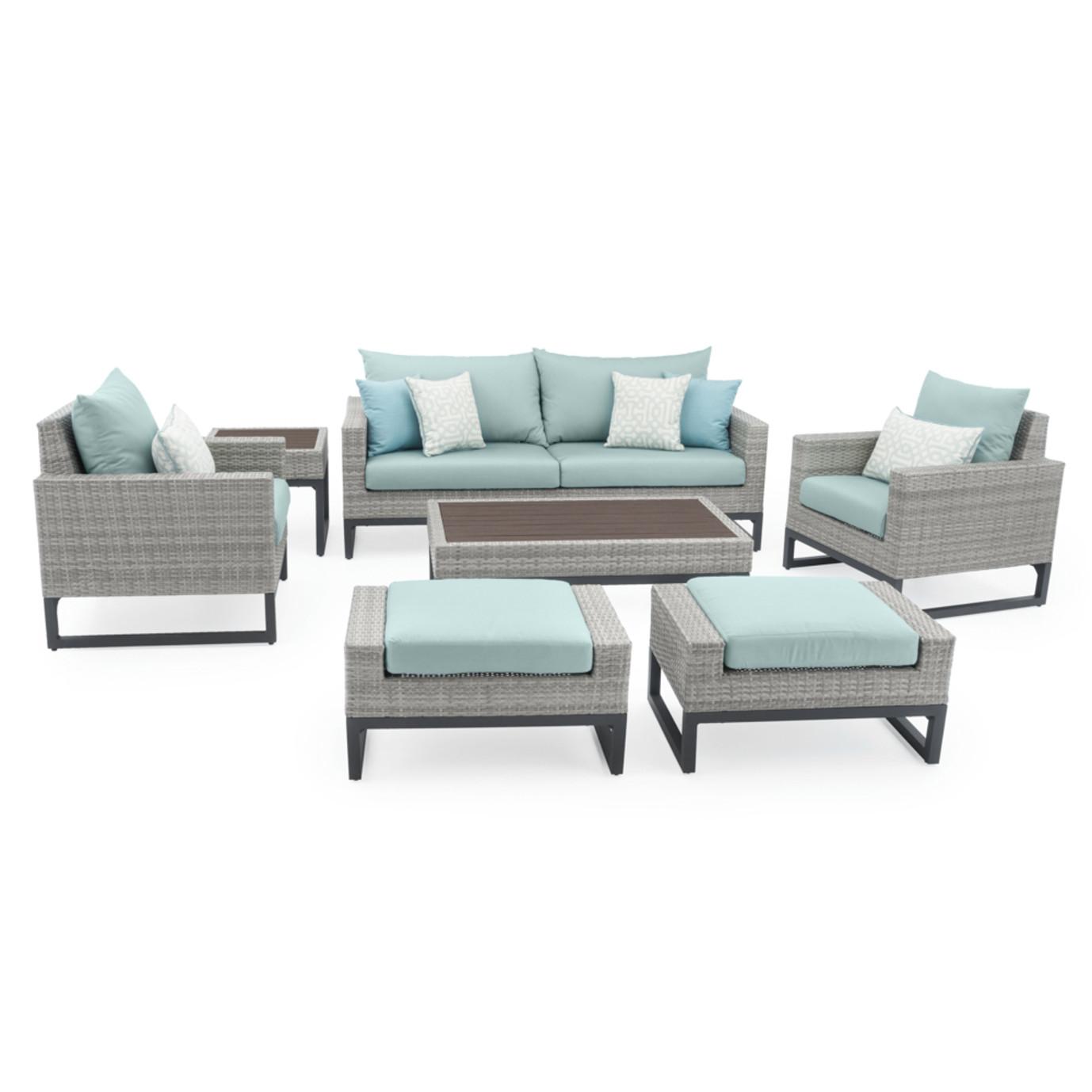 Milo™ Gray 7pc Deep Seating Set - Spa Blue