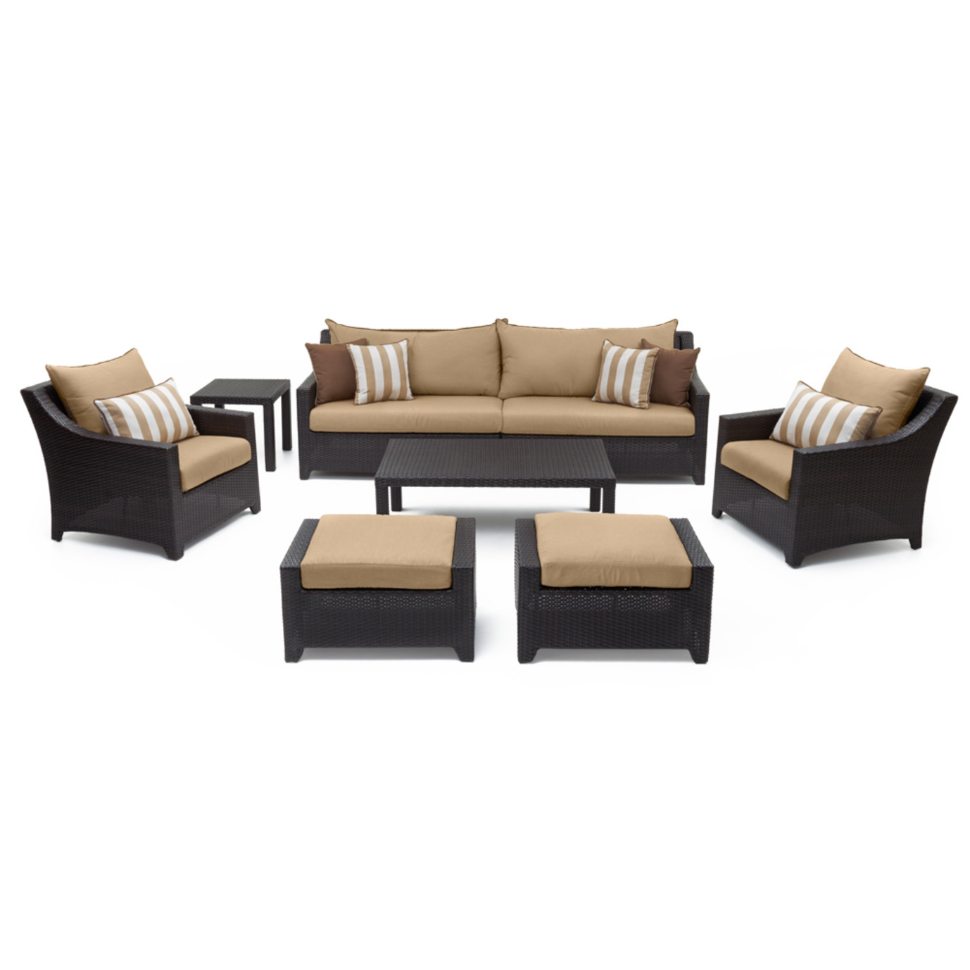 Deco™ 8 Piece Sofa & Club Chair Set - Maxim Beige