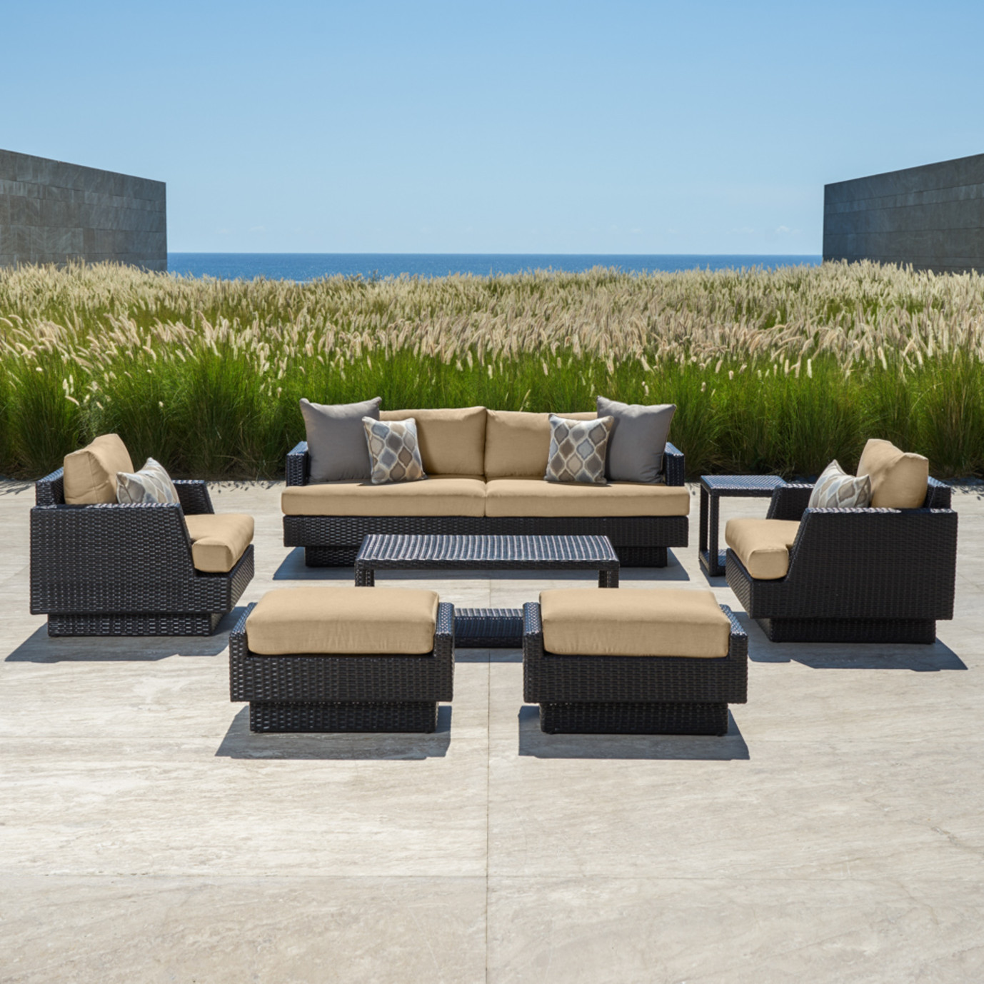 Portofino™ Comfort 7pc Deep Seating Set - Heather Beige