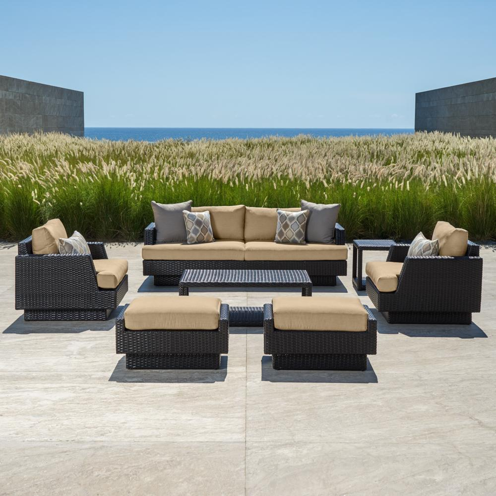 portofino comfort 7pc deep seating set heather beige - Rst Brands
