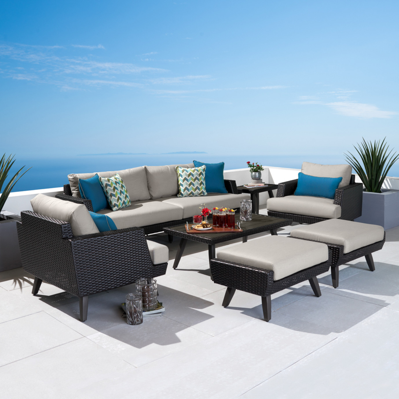 Portofino® Casual 7 Piece Seating Set - Dove Gray