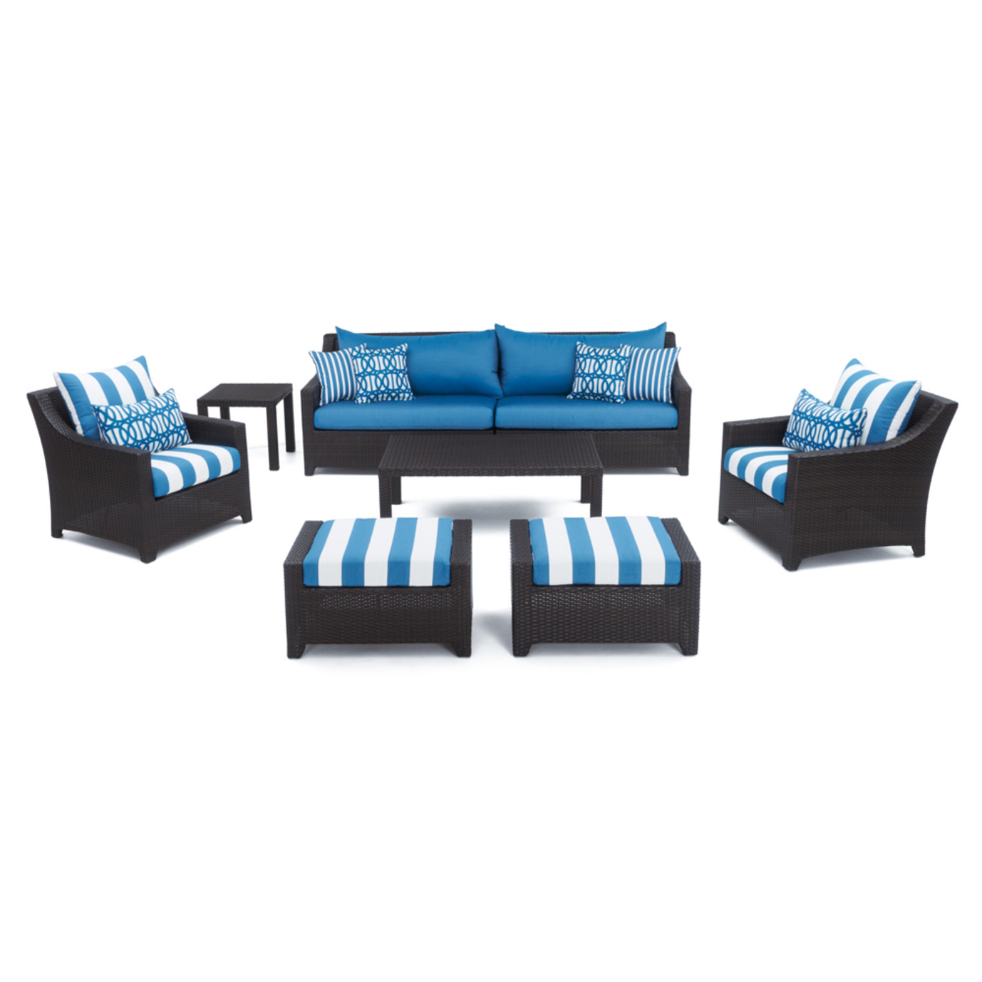 Deco™ 8pc Sofa and Club Chair Set- Regatta Blue