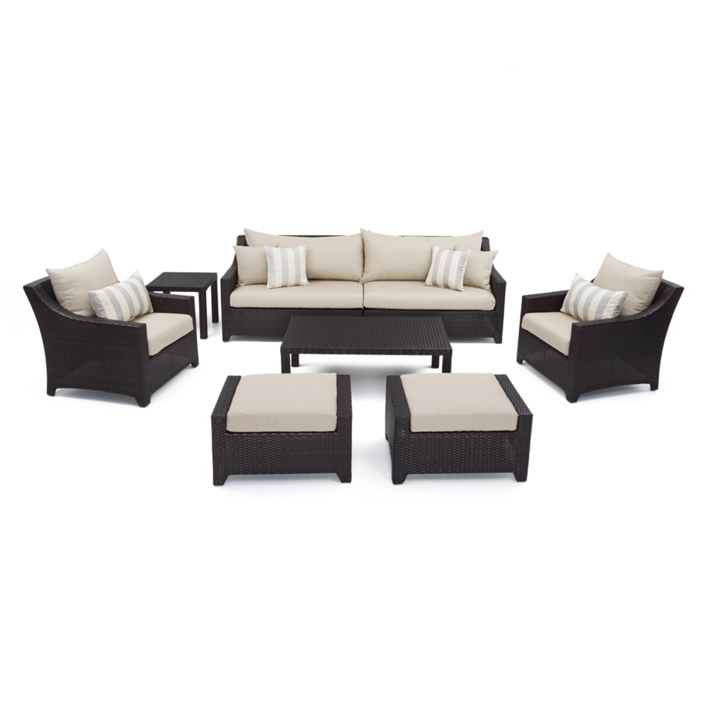 Deco™ 8 Piece Sofa and Club Chair Set - Slate Gray
