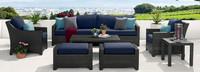 Deco™ 8 Piece Sofa and Club Chair Set - Spa Blue