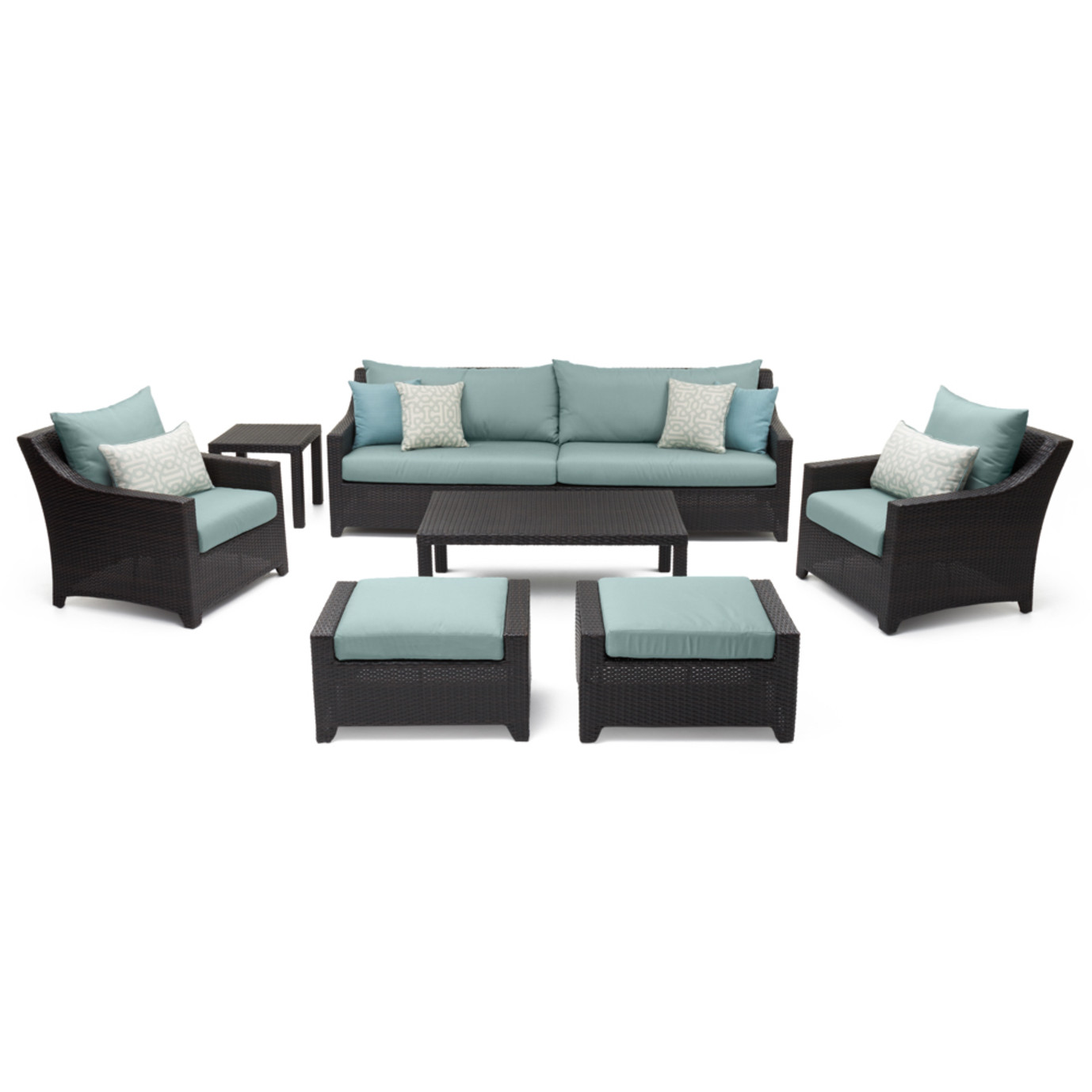 Deco™ 8pc Sofa and Club Chair Set - Spa Blue