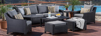 Deco™ 8 Piece Sofa and Club Chair Set - Sunset Red