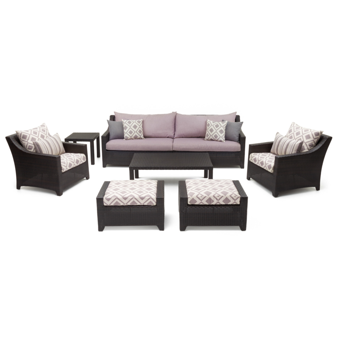 Deco™ 8 Piece Sofa & Club Chair Set - Wisteria Lavender