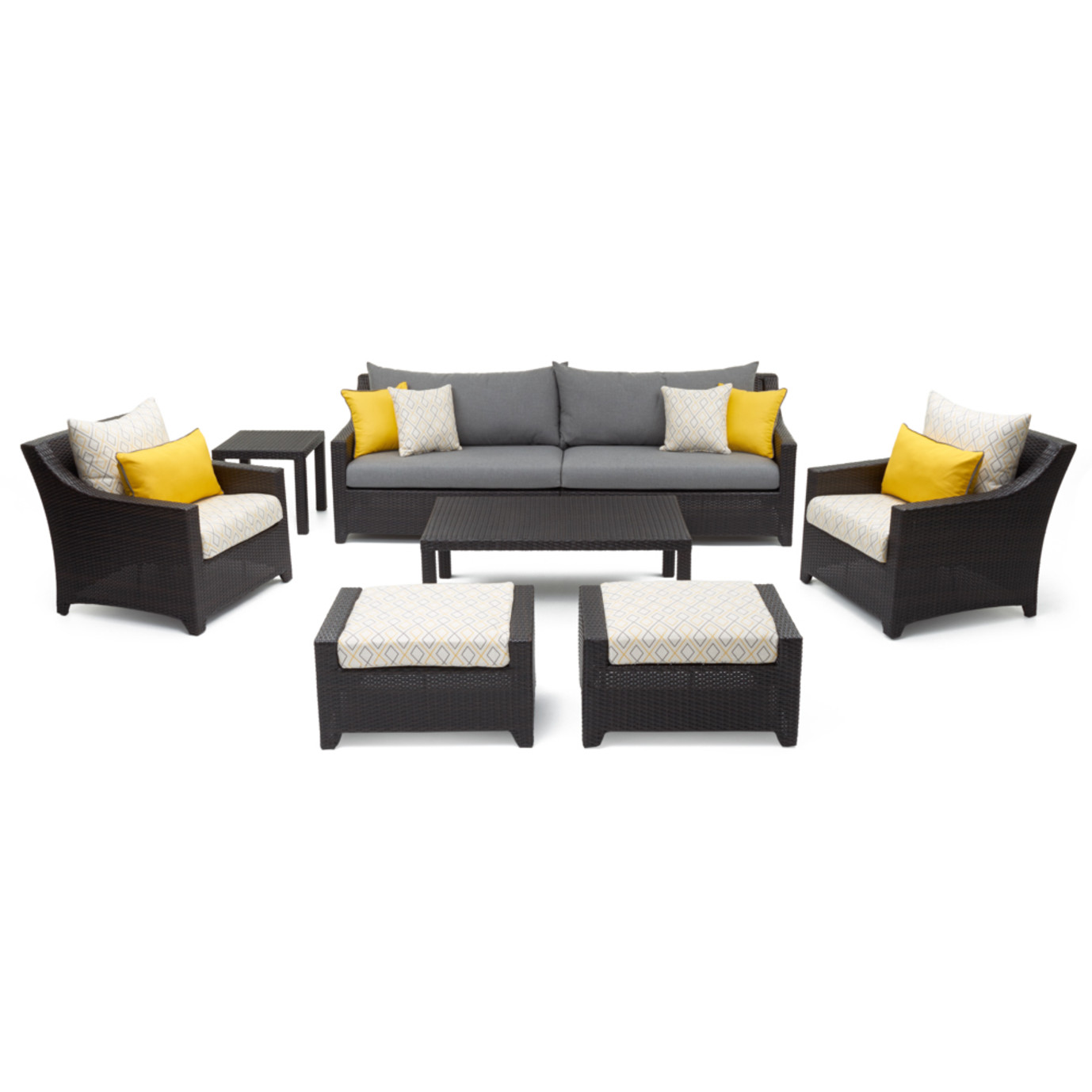 Deco™ 8pc Sofa & Design Club Chair Set - Sunflower Yellow