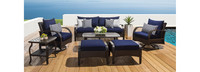 Barcelo™ 7 Piece Motion Club Deep Seating Set - Bliss Blue