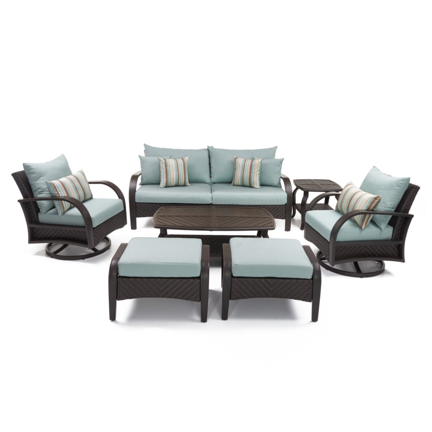 Barcelo™ 7pc Motion Club Deep Seating Set - Bliss Blue