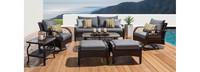Barcelo™ 7 Piece Motion Club Deep Seating Set - Charcoal Gray
