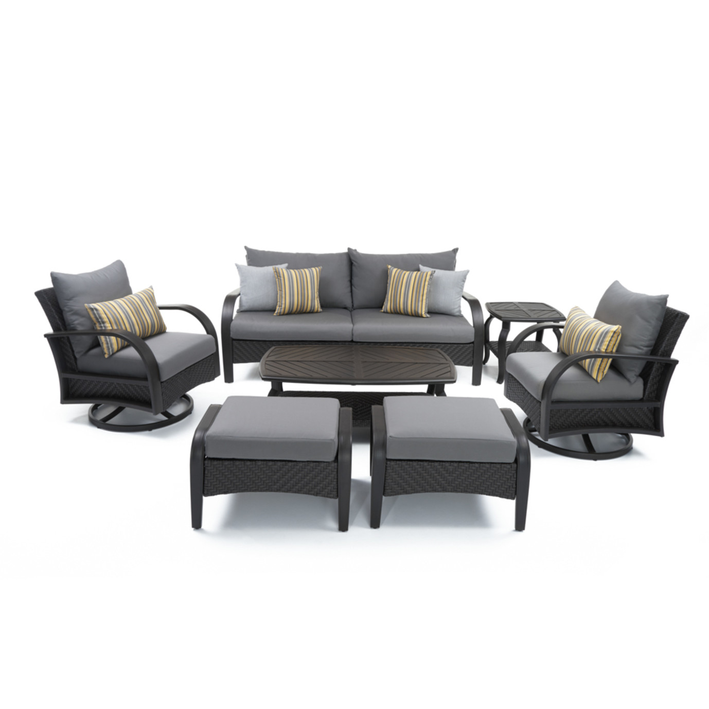 Barcelo™ 7pc Motion Club Deep Seating Set - Charcoal Gray