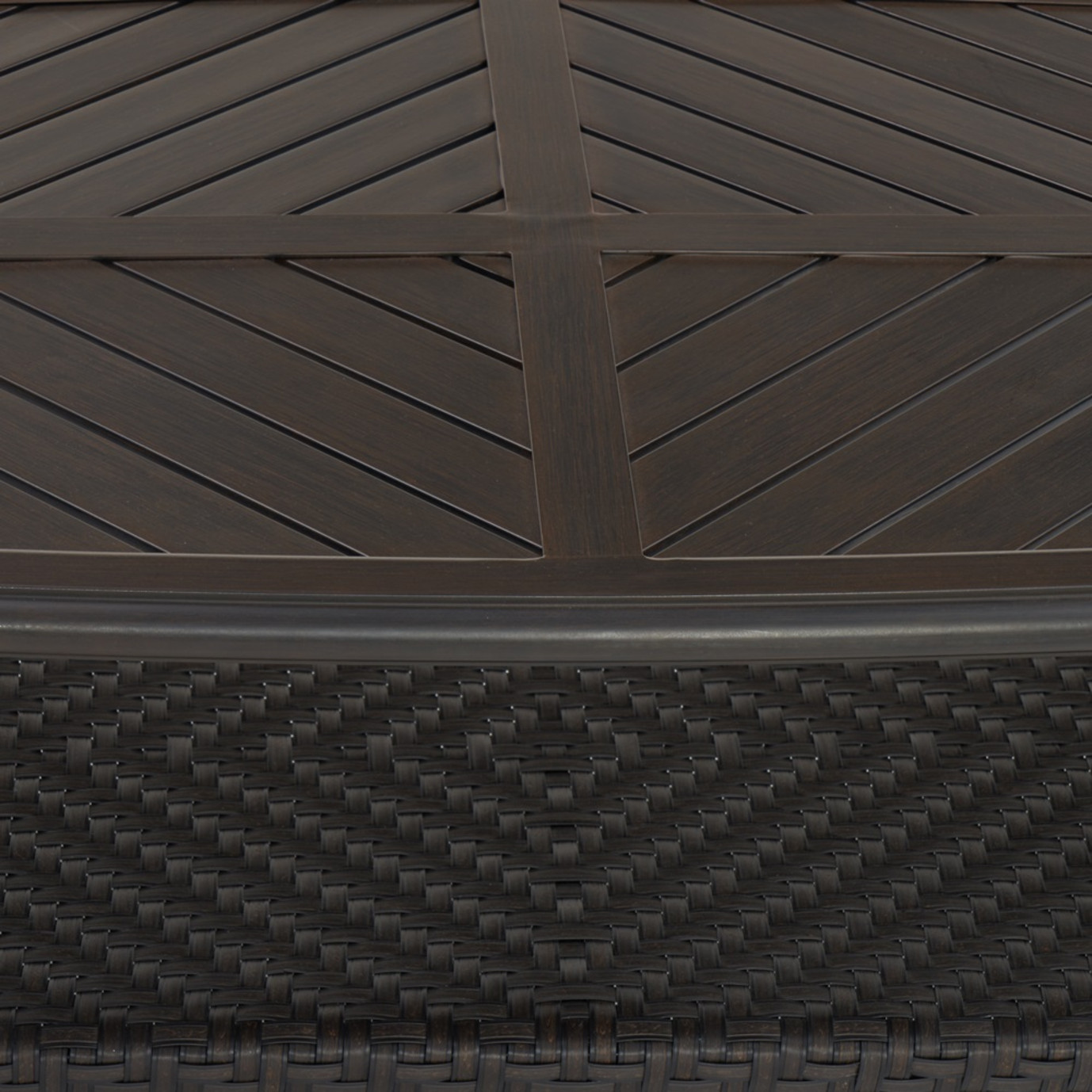 Barcelo™ 7pc Motion Club Deep Seating Set - Charcoal Gray