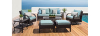 Barcelo™ 7 Piece Motion Club Seating Set - Cast Coral