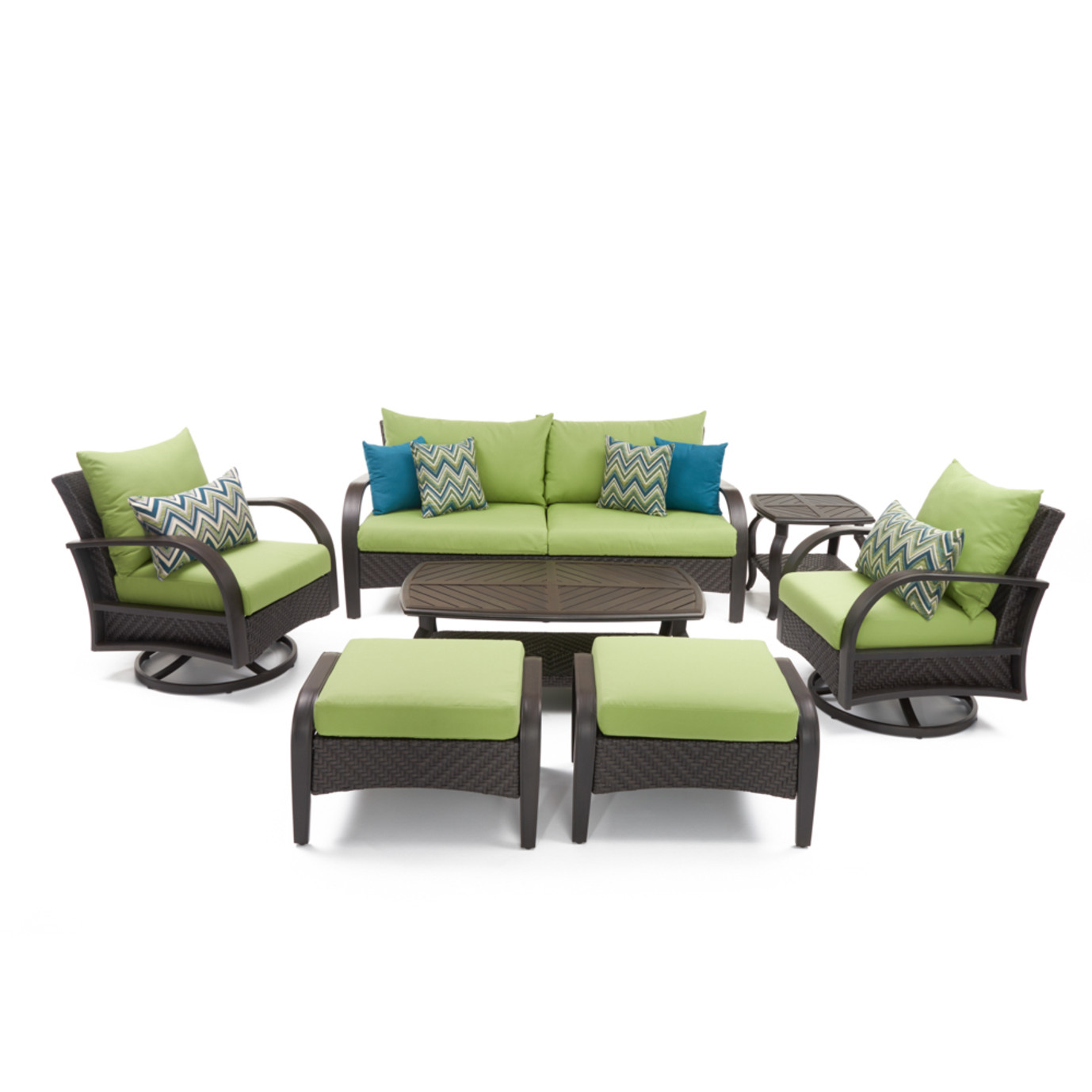 Barcelo™ 7 Piece Motion Club Deep Seating Set - Ginkgo Green