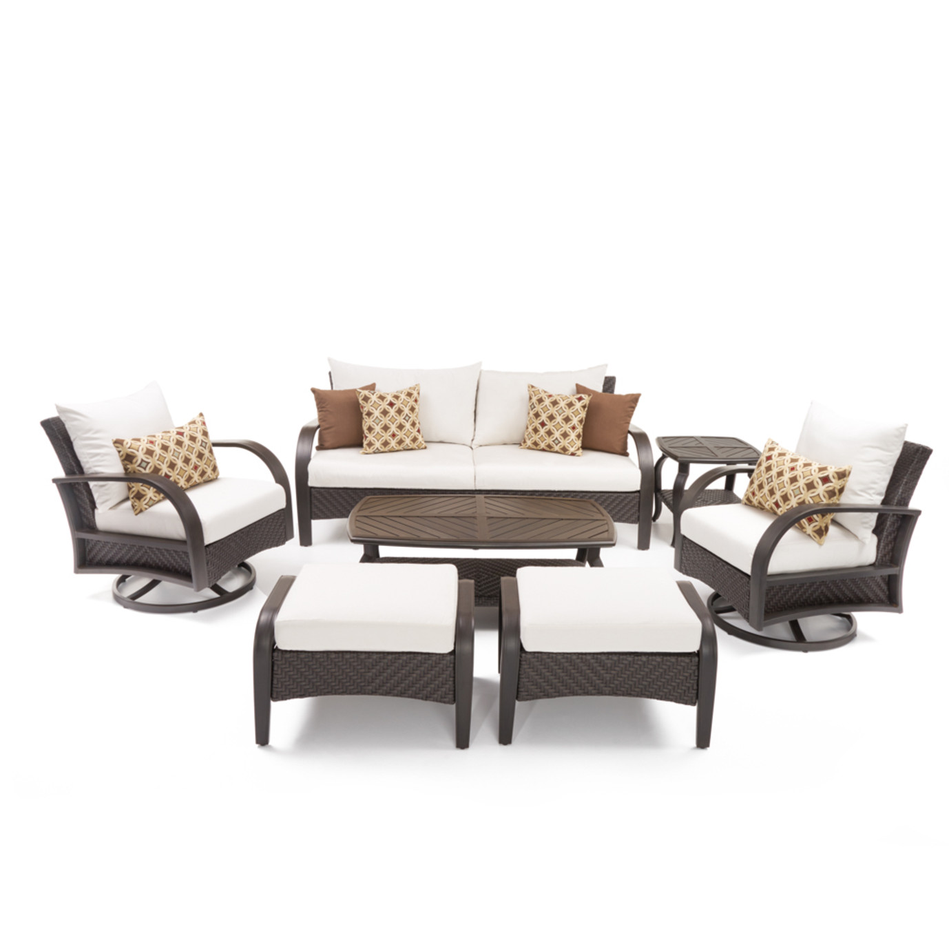 Barcelo™ 7pc Motion Club Deep Seating Set - Moroccan Cream