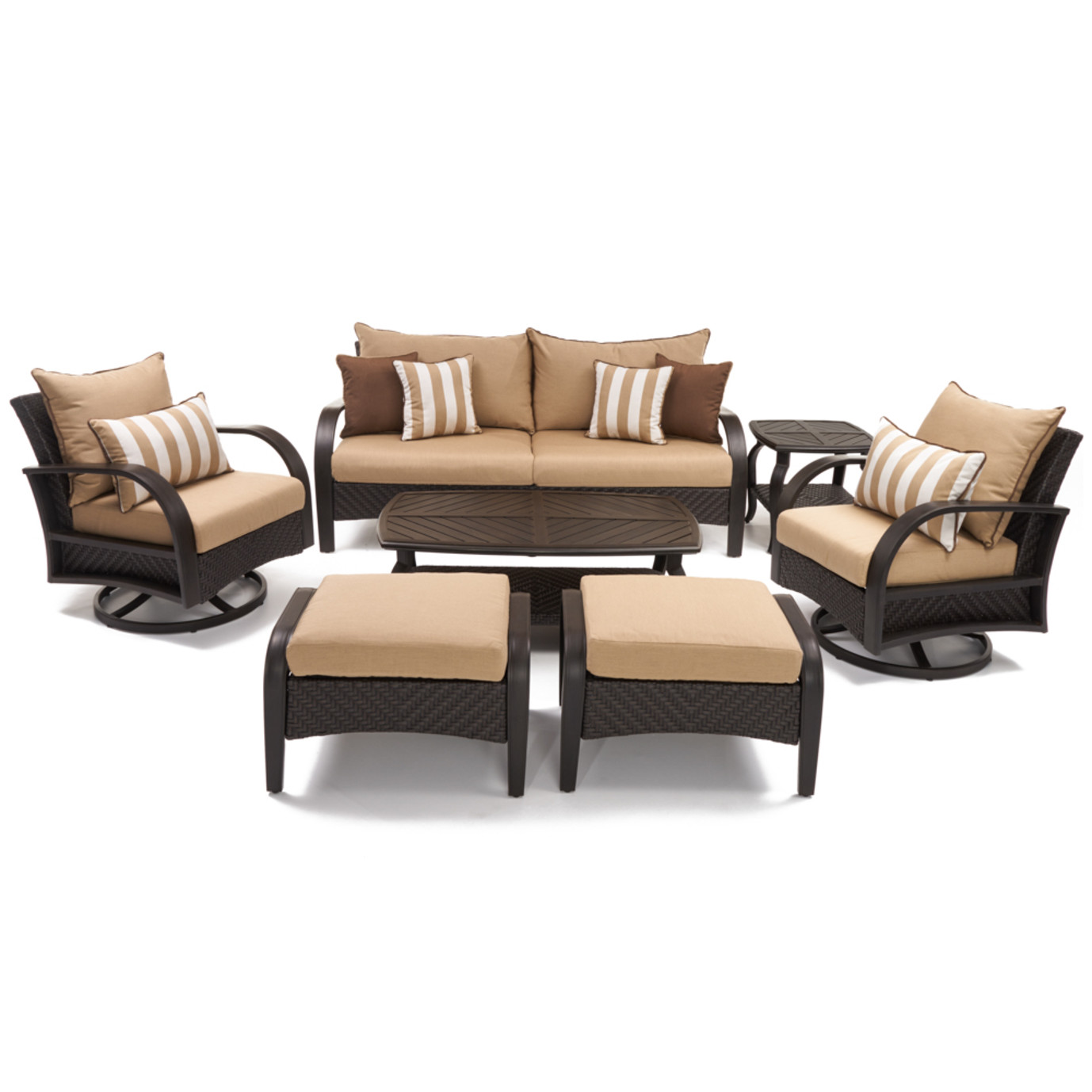 Barcelo™ 7pc Motion Club Deep Seating Set - Maxim Beige