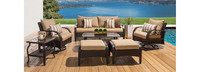 Barcelo™ 7 Piece Motion Club Deep Seating Set - Navy Blue