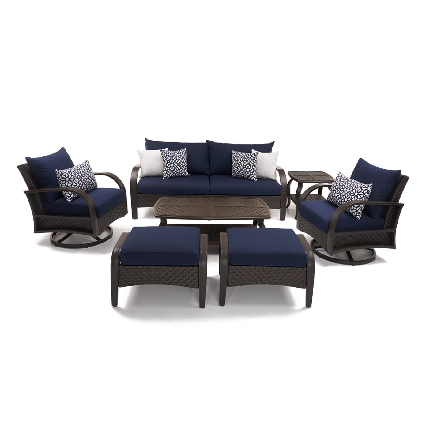 Barcelo™ 7pc Motion Club Deep Seating Set - Navy Blue
