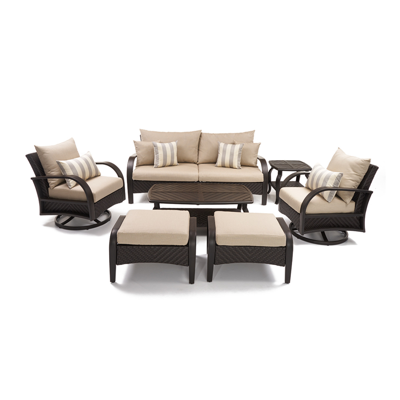 Barcelo™ 7 Piece Motion Club Deep Seating Set - Slate Gray