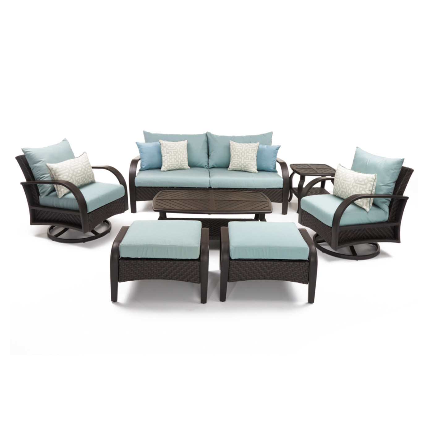 Barcelo™ 7 Piece Motion Club Deep Seating Set -Spa Blue