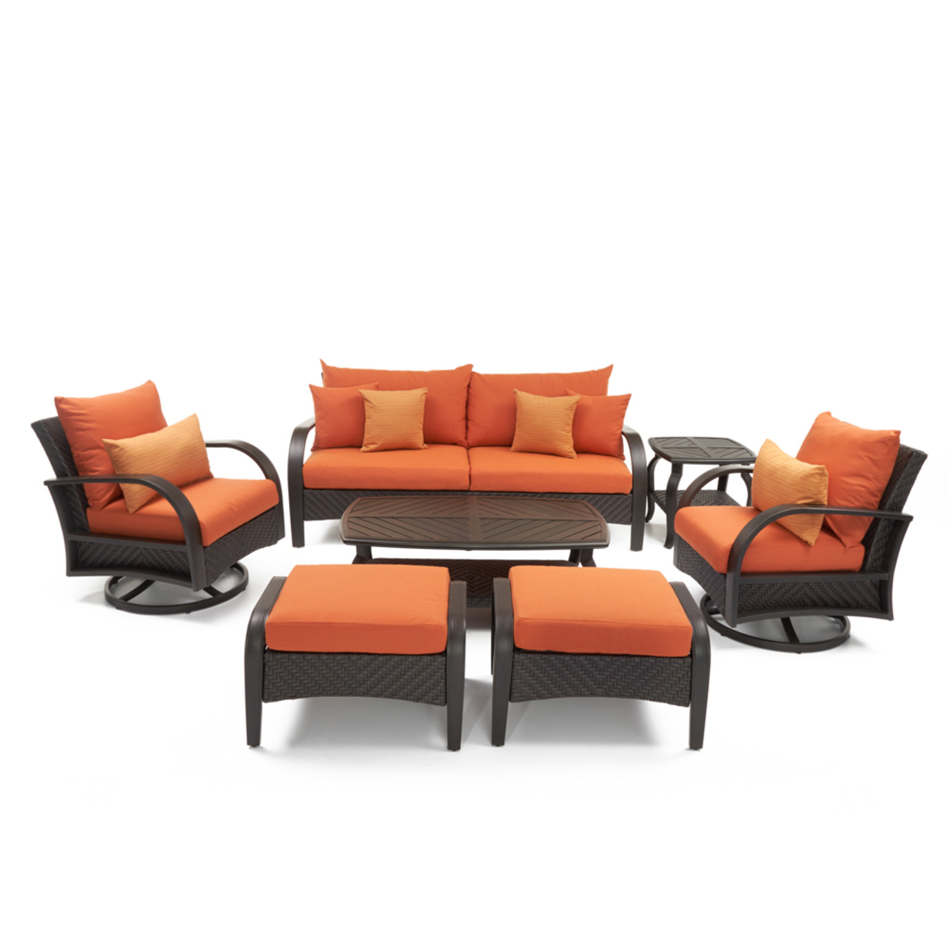 Barcelo™ 7 Piece Motion Club Deep Seating Set - Tikka Orange