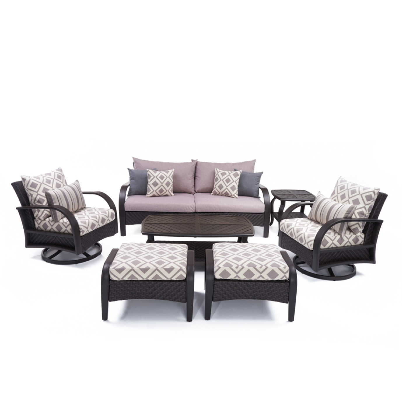 Barcelo™ 7 Piece Motion Club Deep Seating Set - Wisteria Lavender
