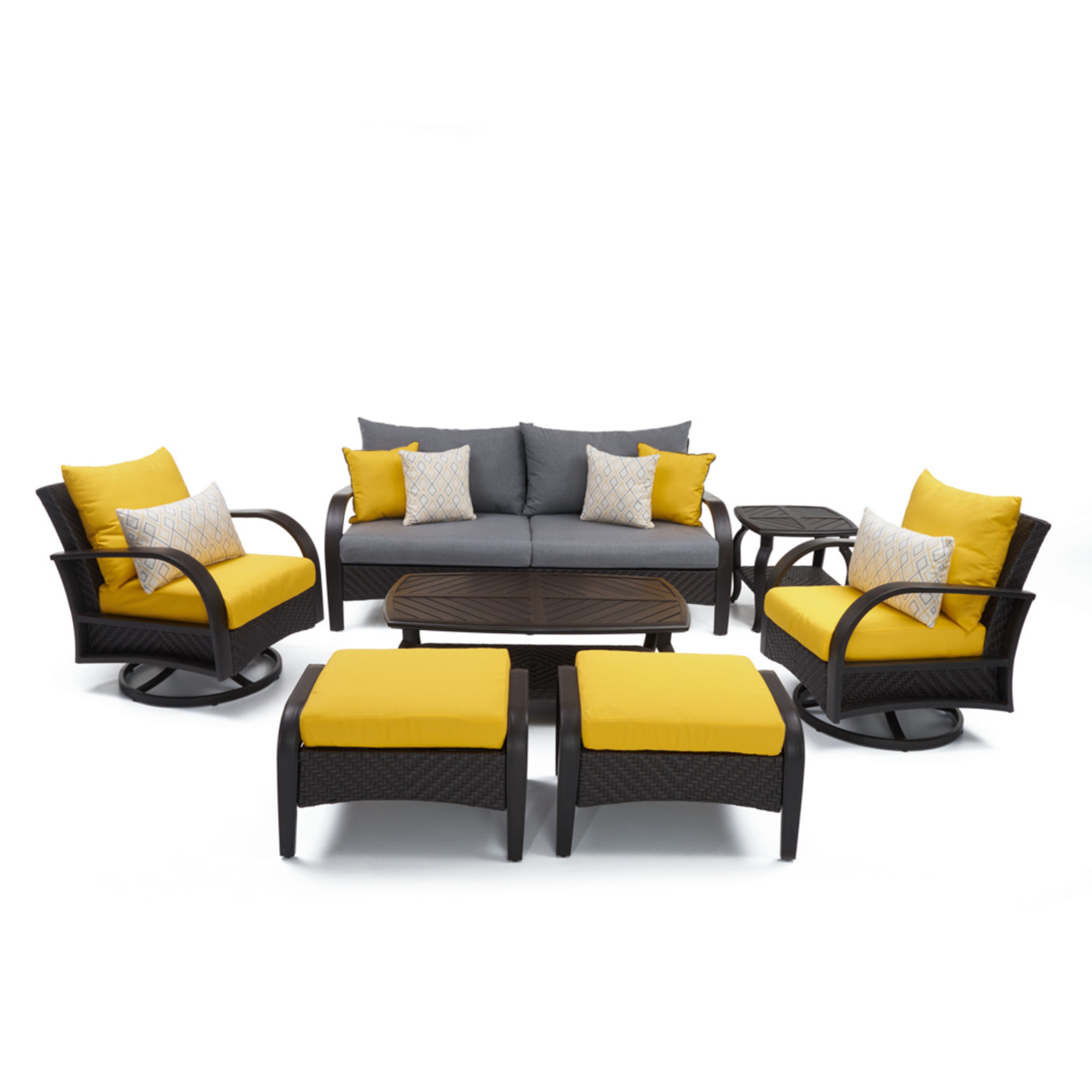 Barcelo™ 7pc Motion Club Deep Seating Set - Sunflower Yellow