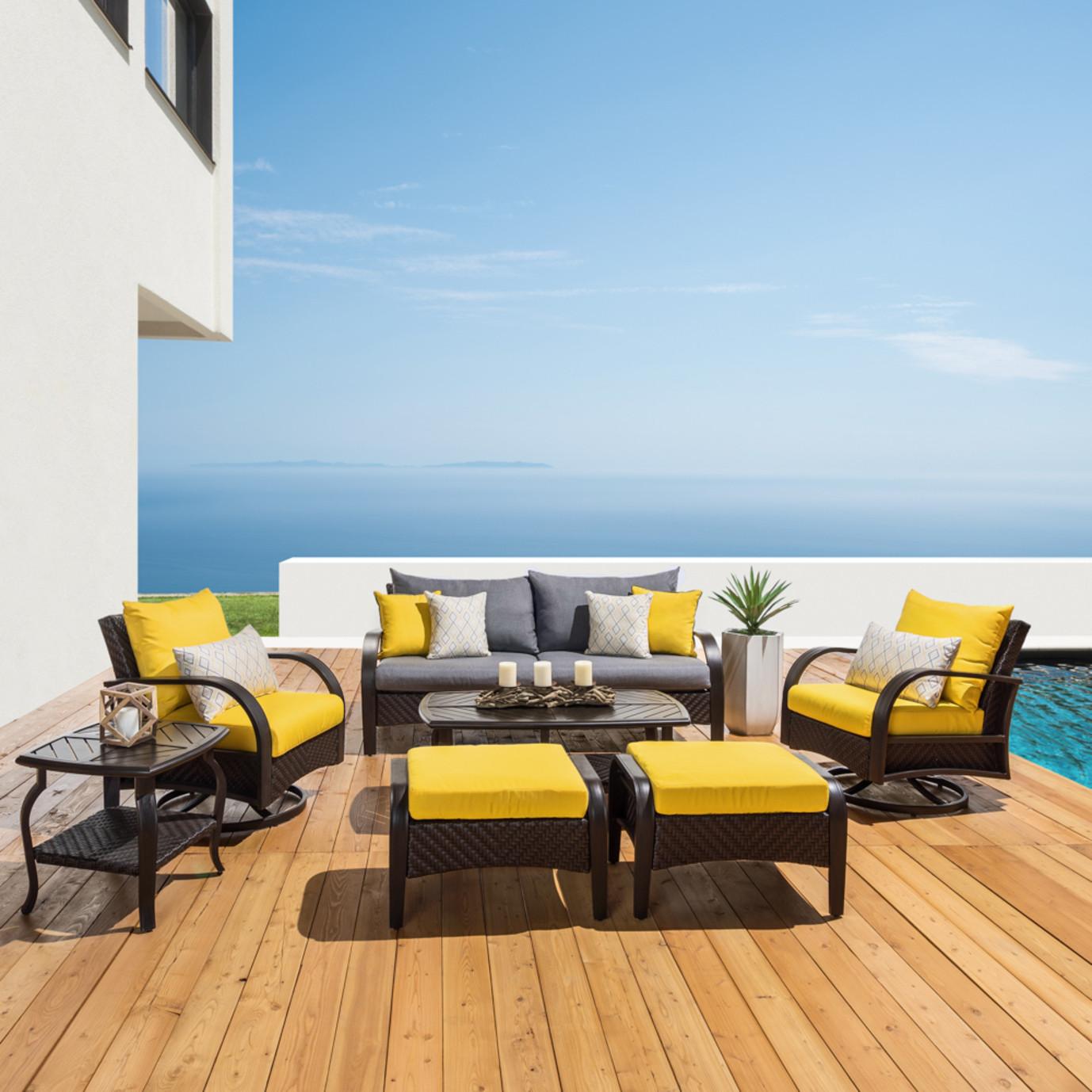 Barcelo™ 7pc Motion Club Deep Seating Set - Sunflower Yellow