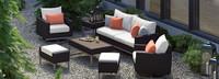 Milo™ Espresso 7 Piece Motion Deep Seating Set - Cast Coral